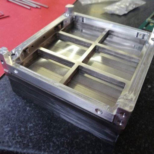 Integration of HERMES detector system at FBK Labs